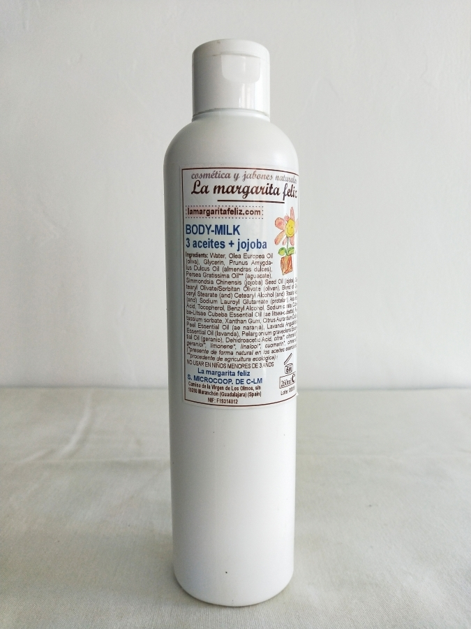 BODY MILK 3 ACEITES + JOJOBA (250ml)